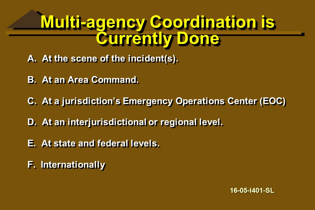 Multi-agency Coordination is Currently Done