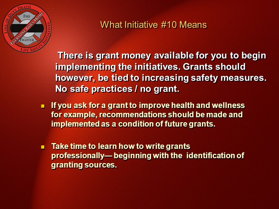 What Initiative #10 Means