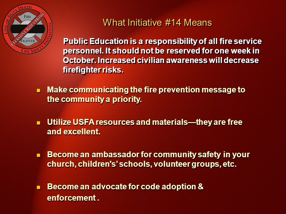 What Initiative #14 Means
