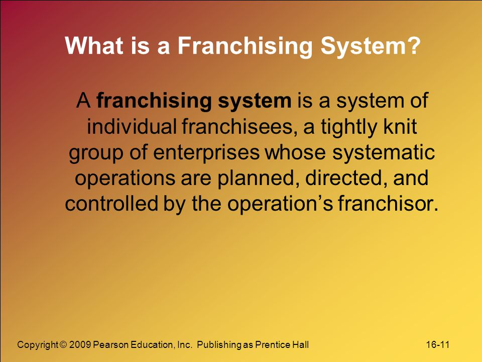 What is a Franchising System