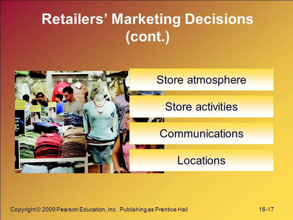 Retailers' Marketing Decisions (cont.)