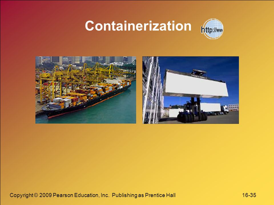 Containerization Copyright © 2009 Pearson Education, Inc.