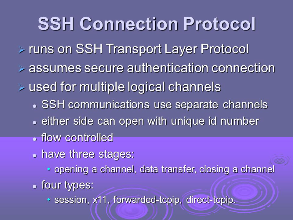 SSH Connection Protocol