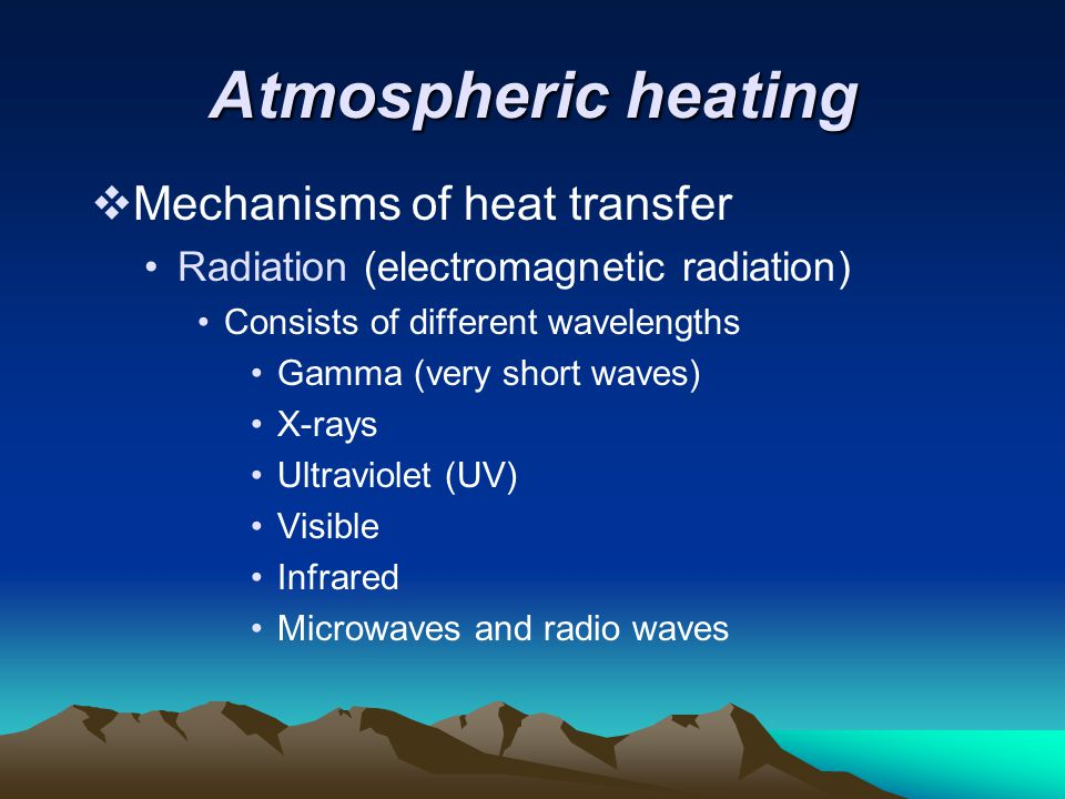 Atmospheric heating Mechanisms of heat transfer