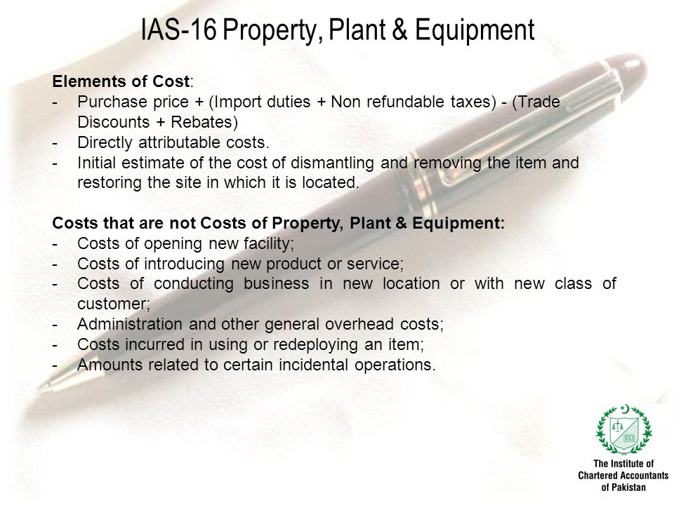 IAS-16 Property, Plant & Equipment
