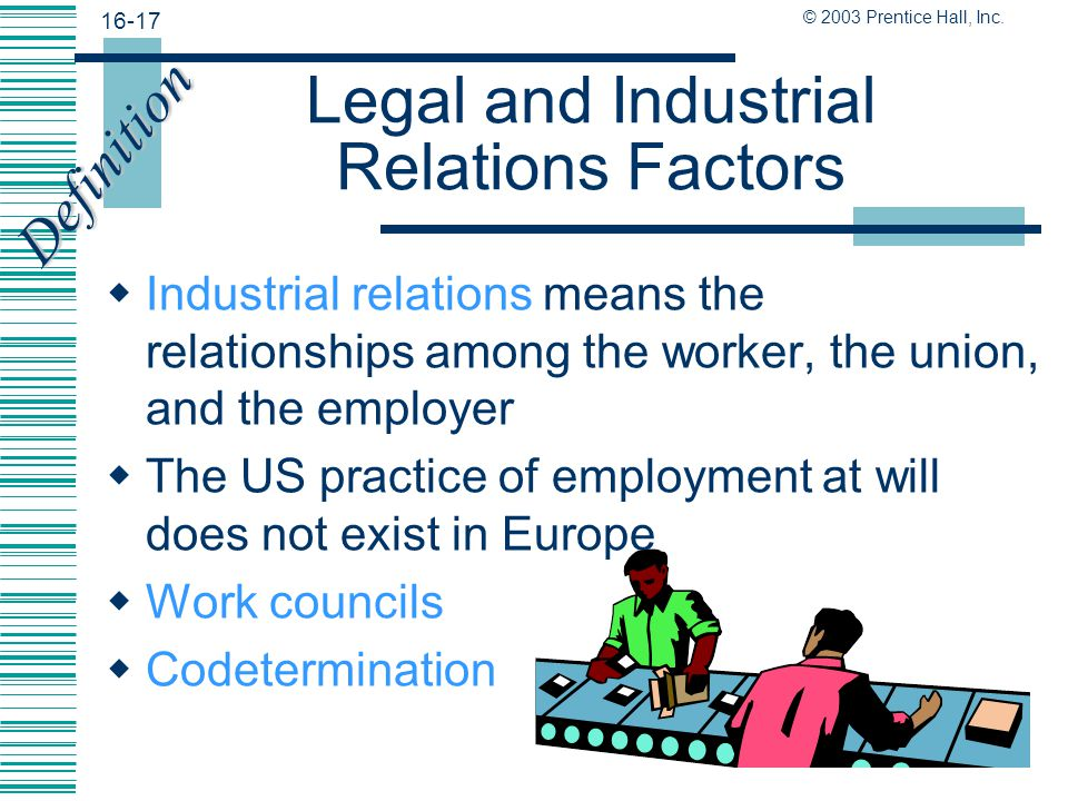 Legal and Industrial Relations Factors