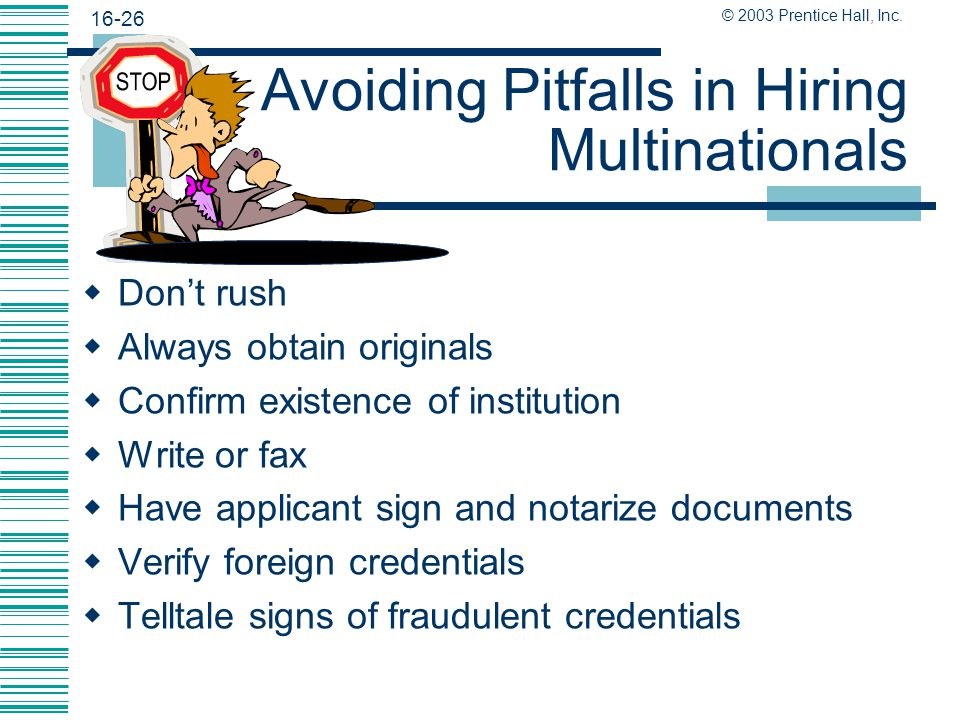 Avoiding Pitfalls in Hiring Multinationals