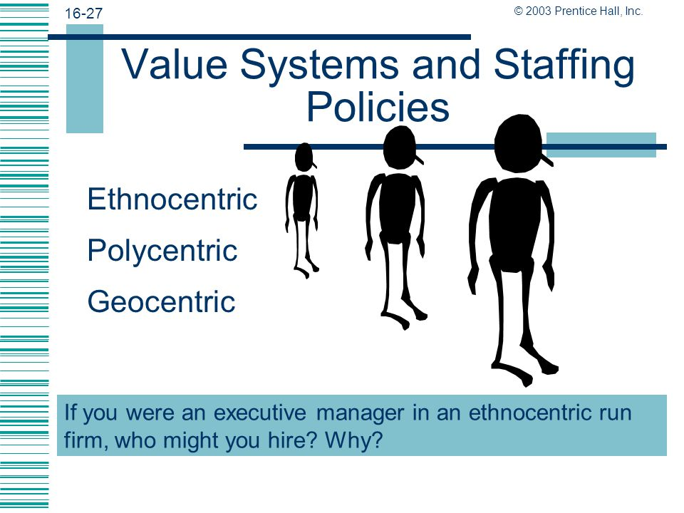 Value Systems and Staffing Policies