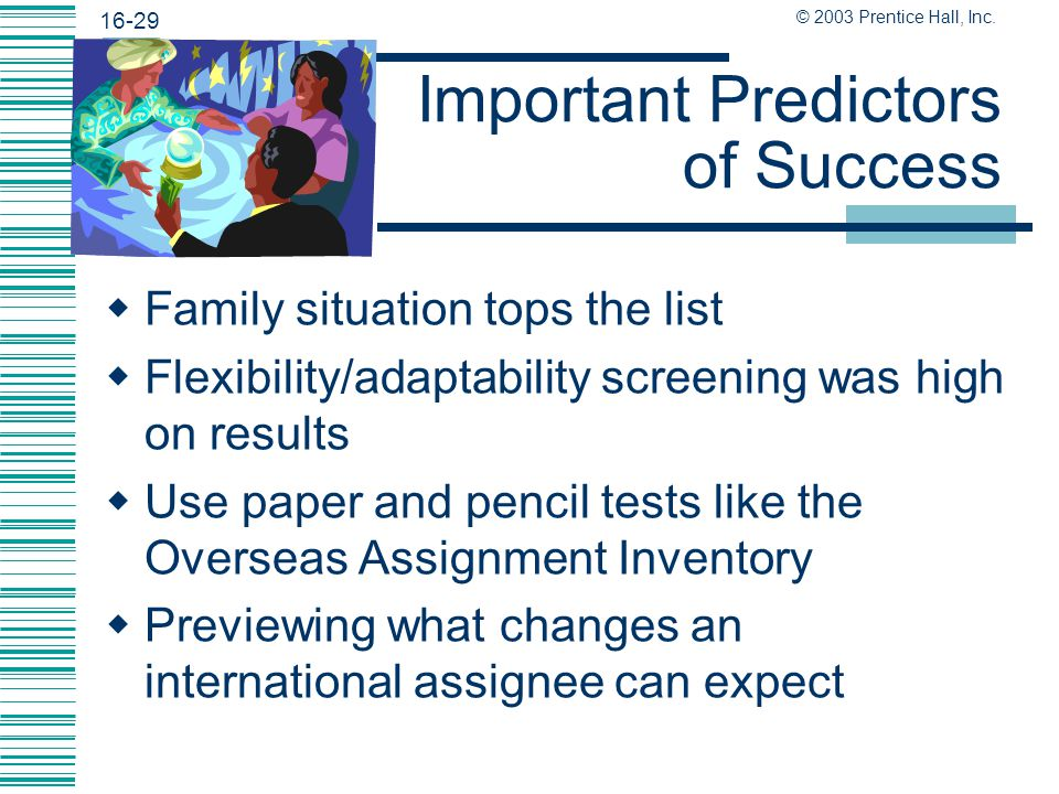 Important Predictors of Success