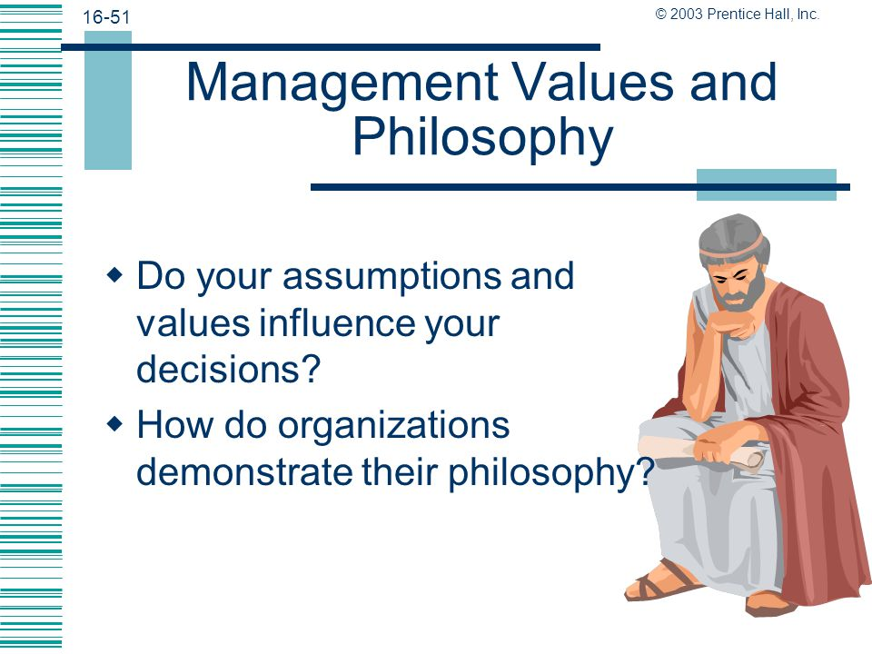 Management Values and Philosophy
