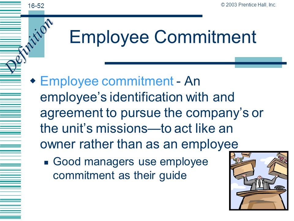 Employee Commitment Definition