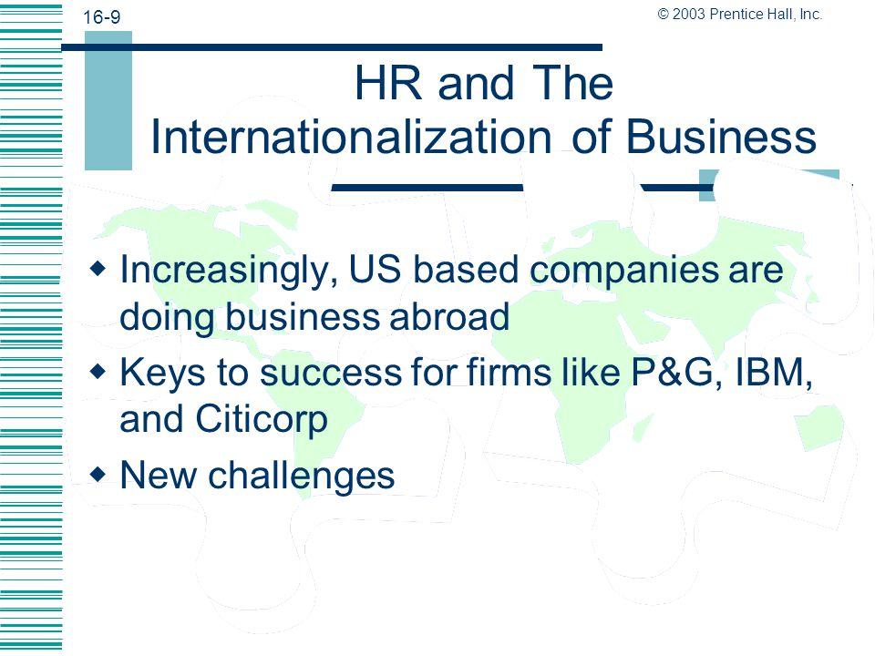 HR and The Internationalization of Business