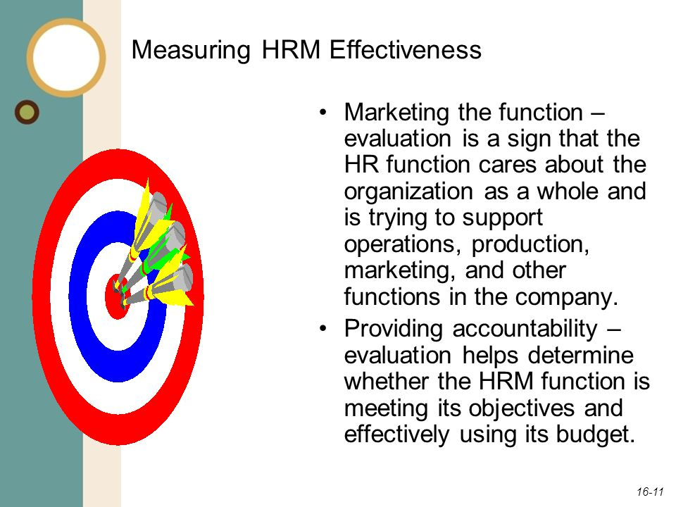 Measuring HRM Effectiveness