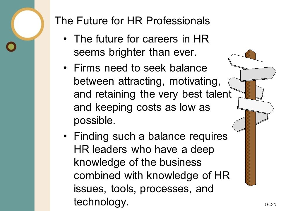 The Future for HR Professionals
