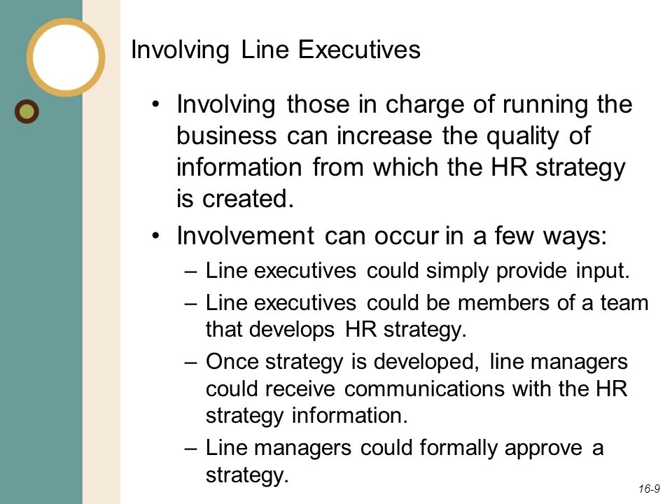 Involving Line Executives