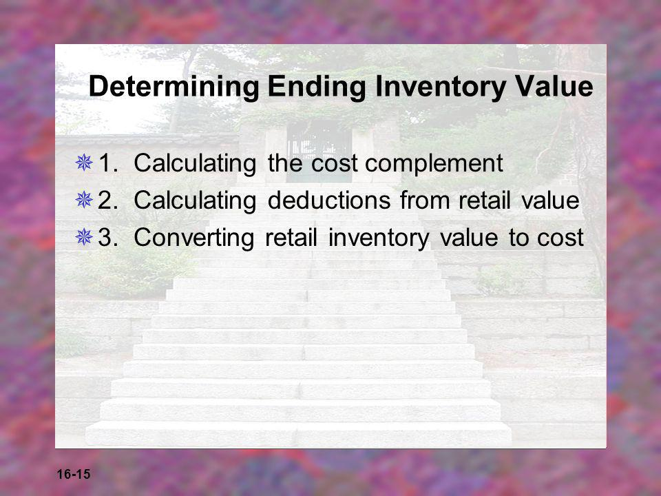 Determining Ending Inventory Value