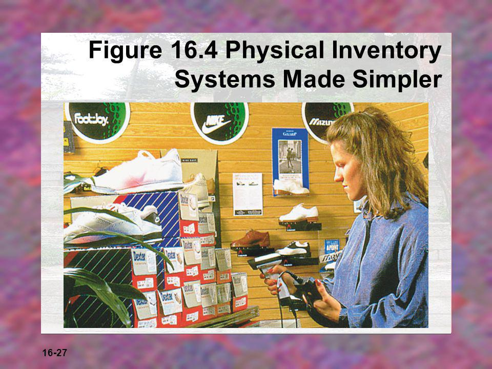 Figure 16.4 Physical Inventory Systems Made Simpler