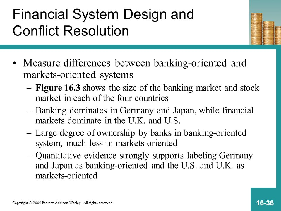 Financial System Design and Conflict Resolution