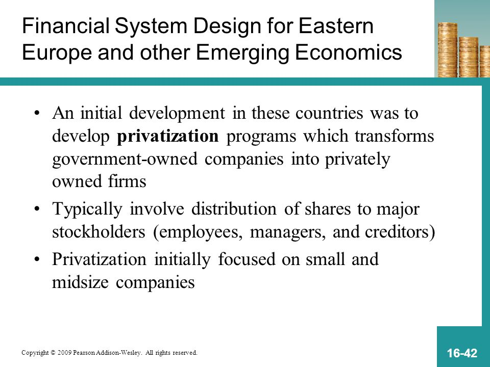 Financial System Design for Eastern Europe and other Emerging Economics