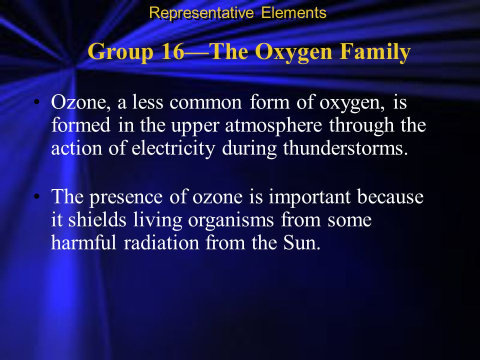 Group 16—The Oxygen Family
