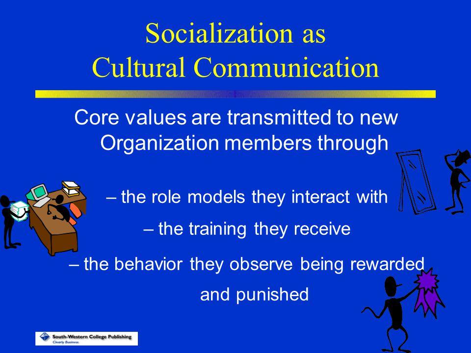 Socialization as Cultural Communication