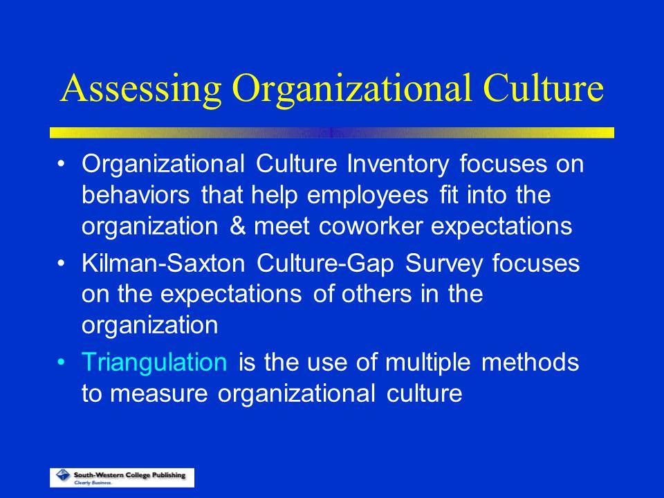Assessing Organizational Culture