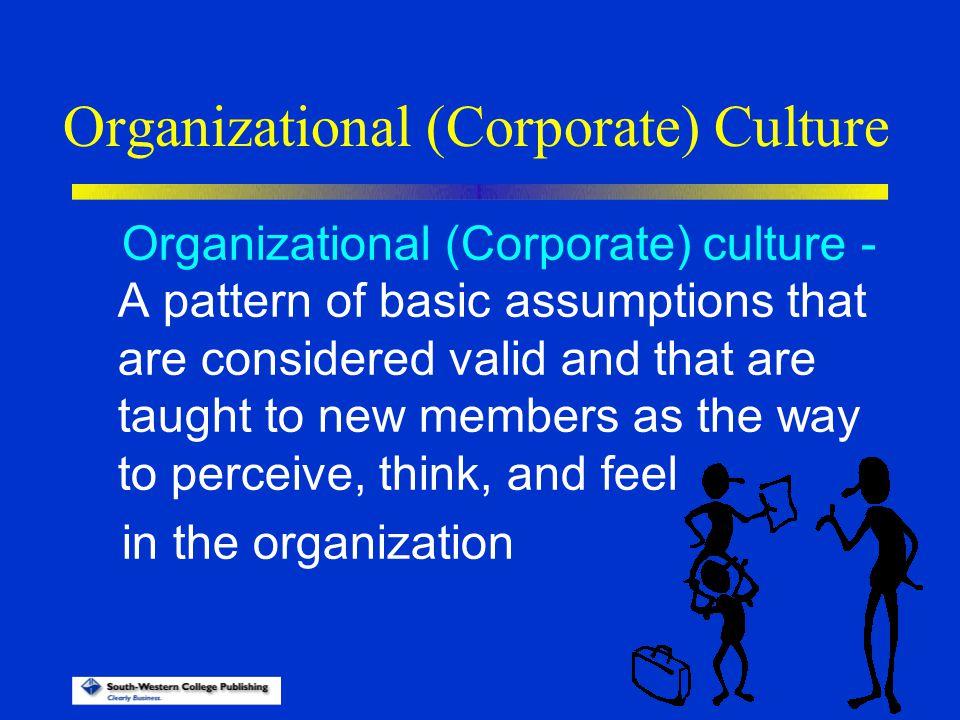 Organizational (Corporate) Culture
