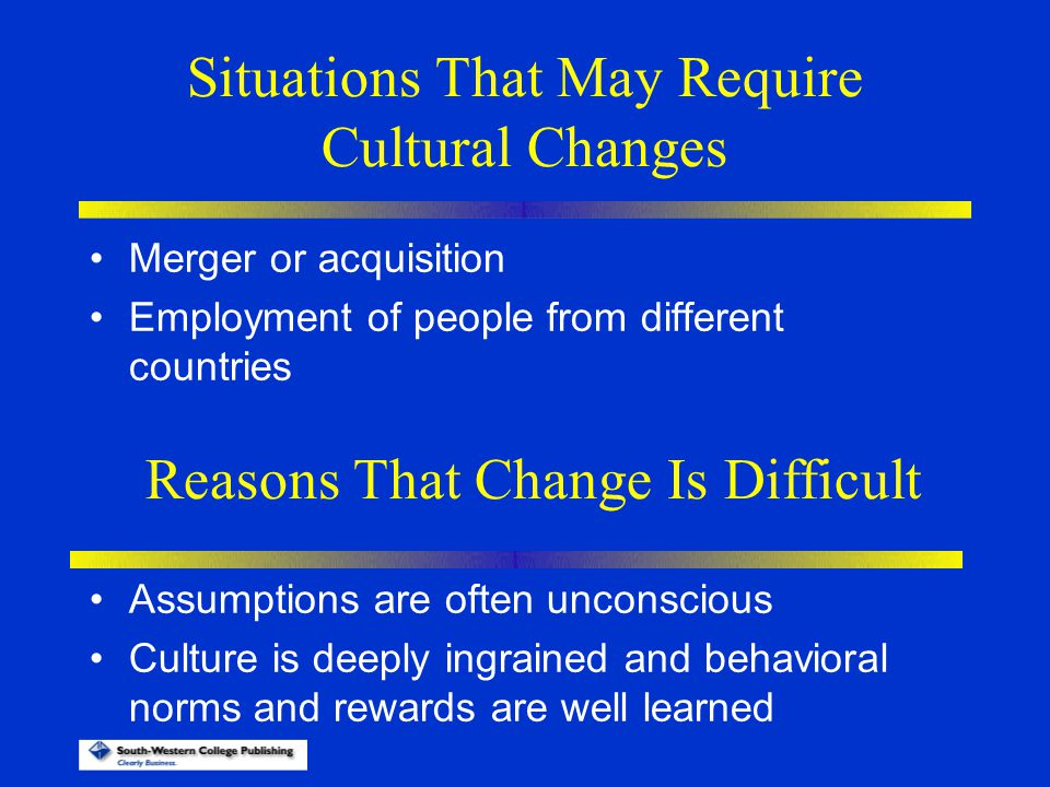 Situations That May Require Cultural Changes