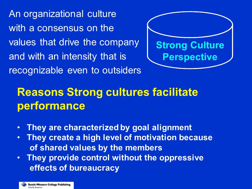 Reasons Strong cultures facilitate performance
