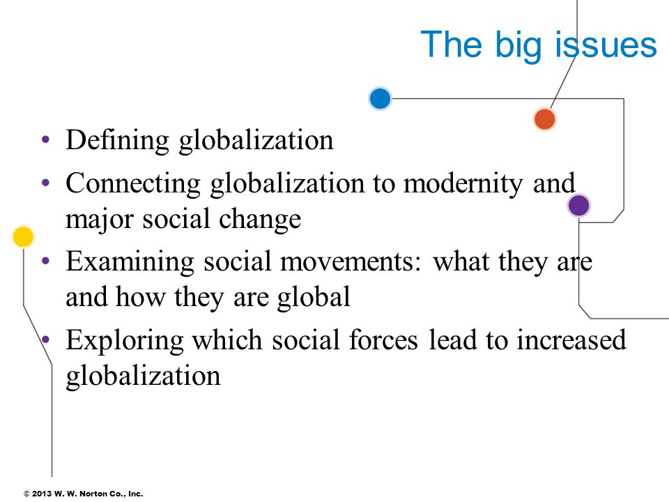 The big issues Defining globalization