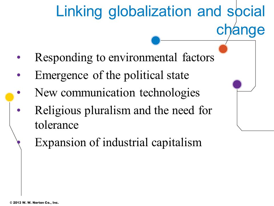 Linking globalization and social change