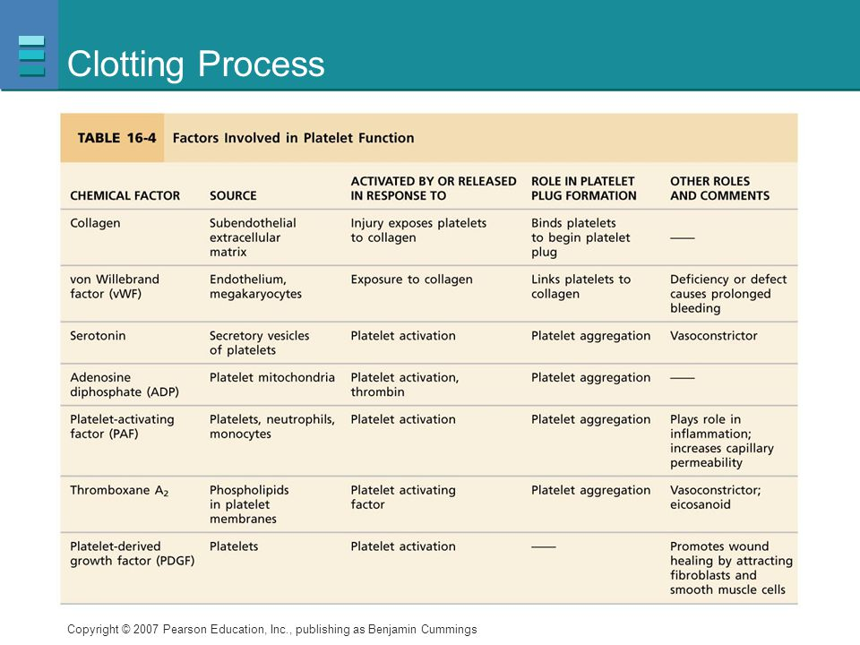 Clotting Process