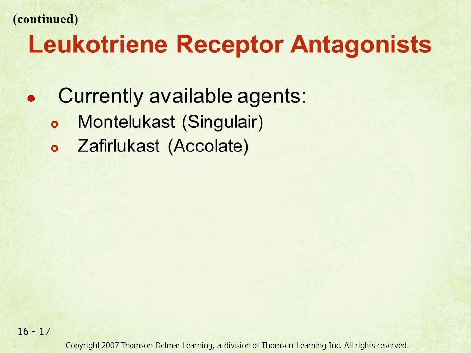 Leukotriene Receptor Antagonists