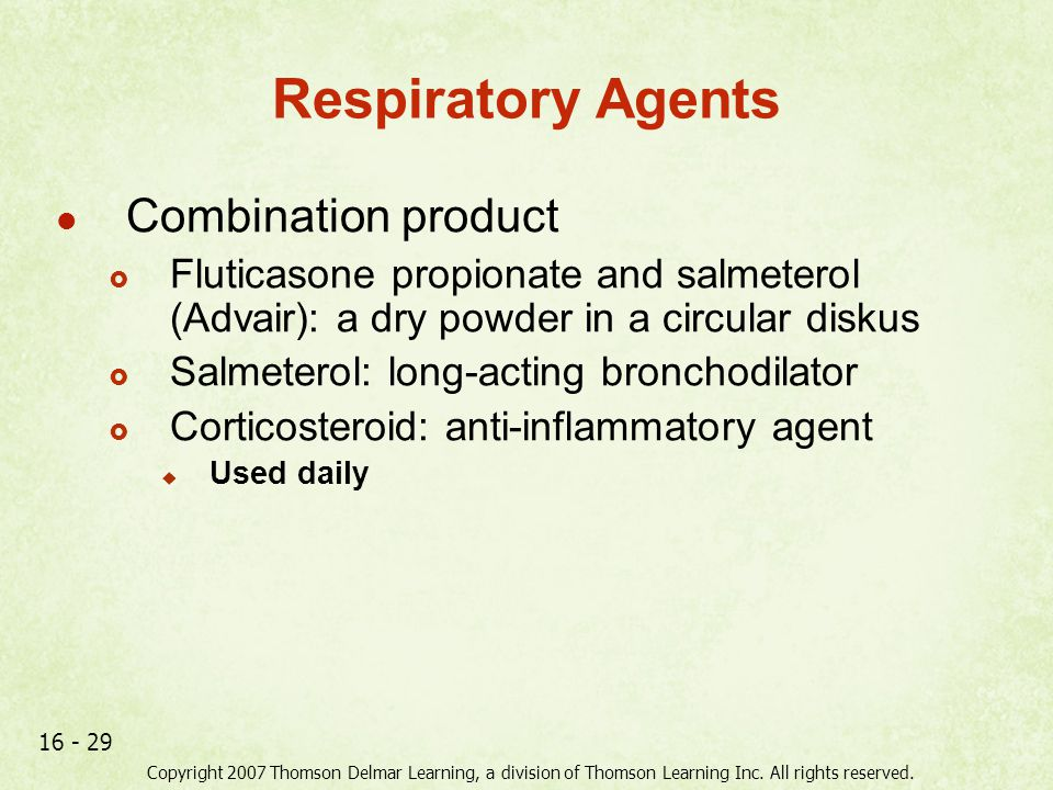 Respiratory Agents Combination product