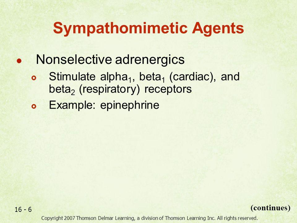 Sympathomimetic Agents