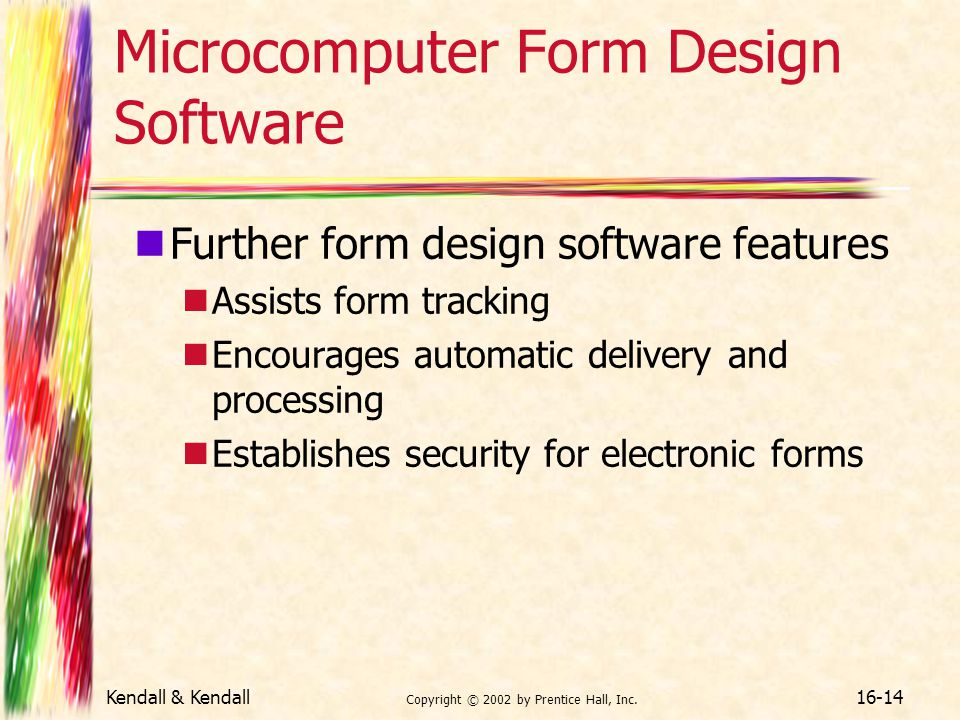 Microcomputer Form Design Software
