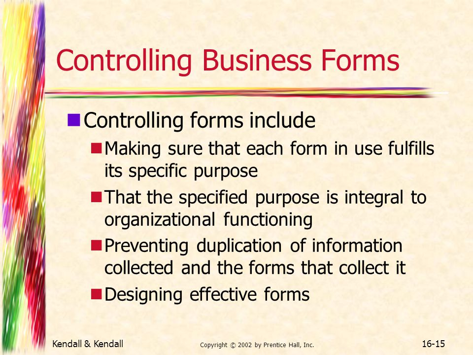 Controlling Business Forms