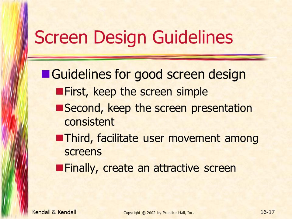 Screen Design Guidelines