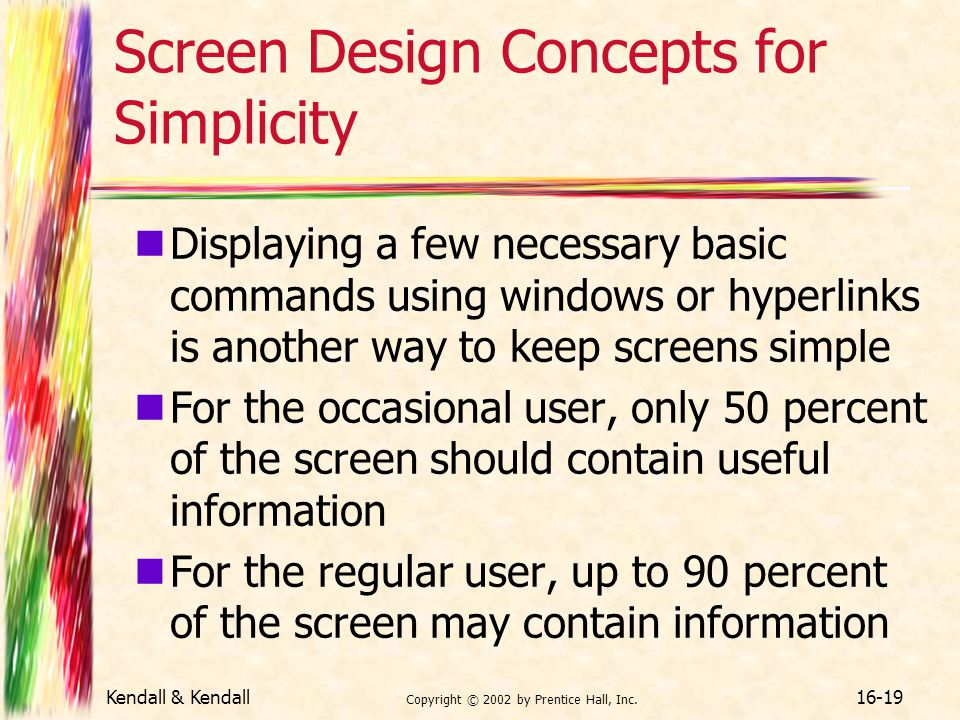 Screen Design Concepts for Simplicity