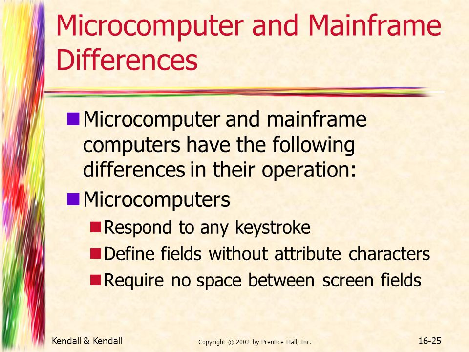 Microcomputer and Mainframe Differences