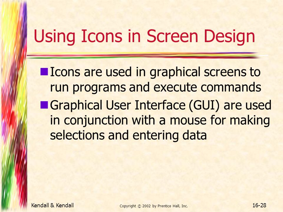 Using Icons in Screen Design