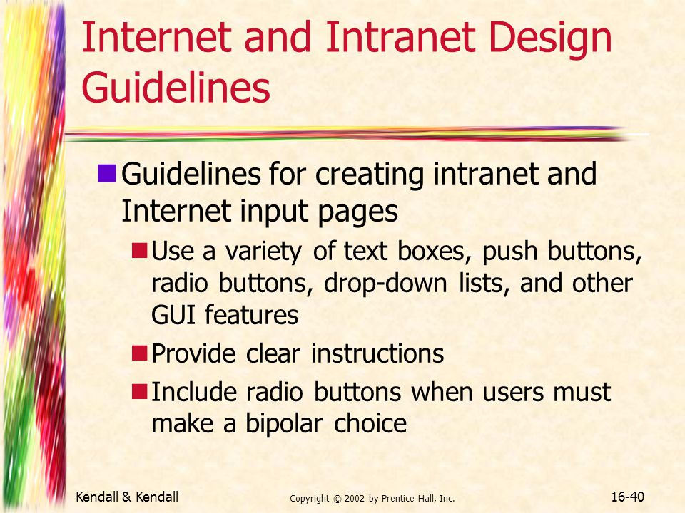 Internet and Intranet Design Guidelines