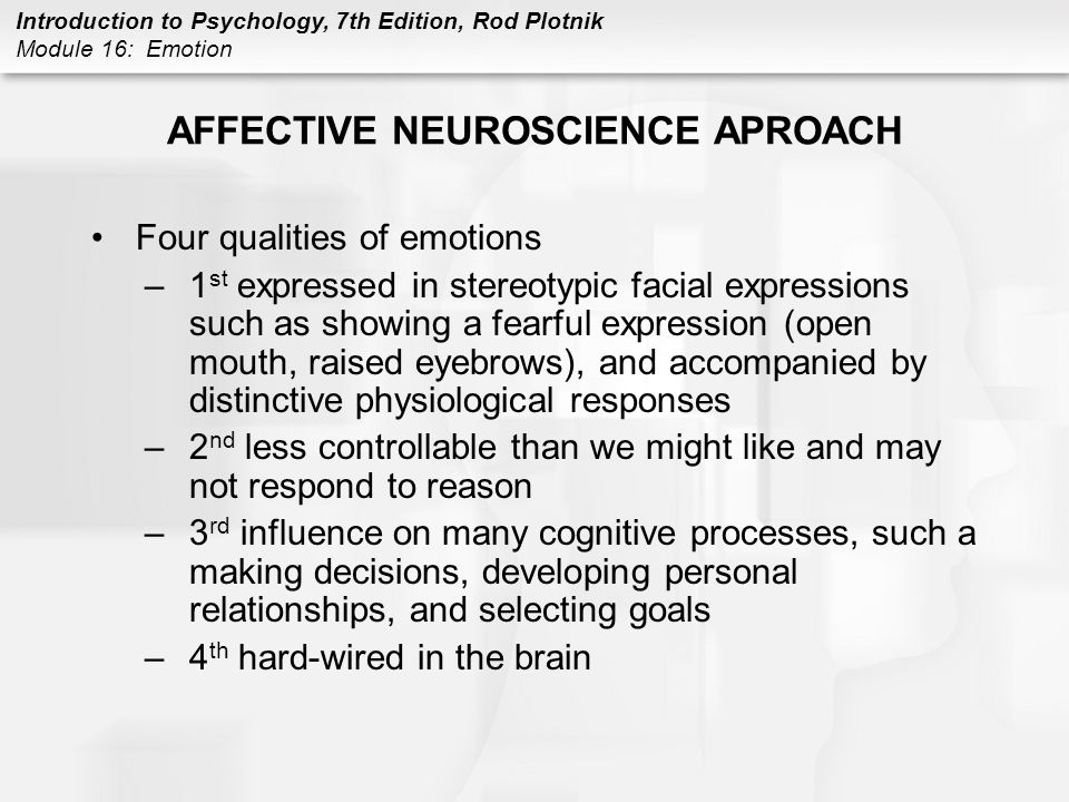 AFFECTIVE NEUROSCIENCE APROACH