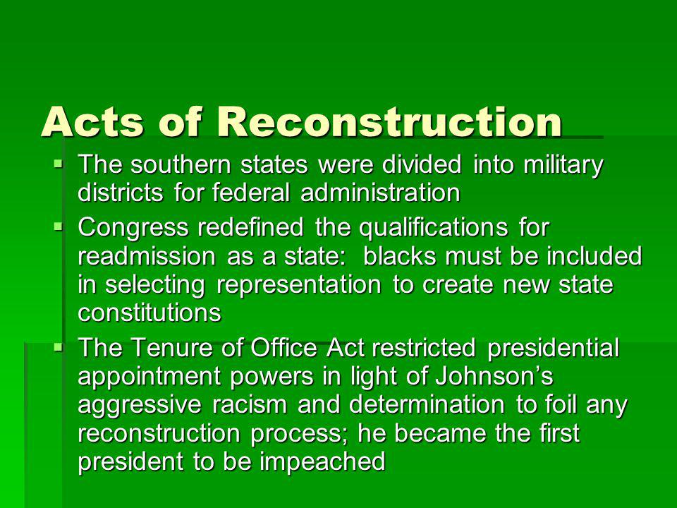 Acts of Reconstruction
