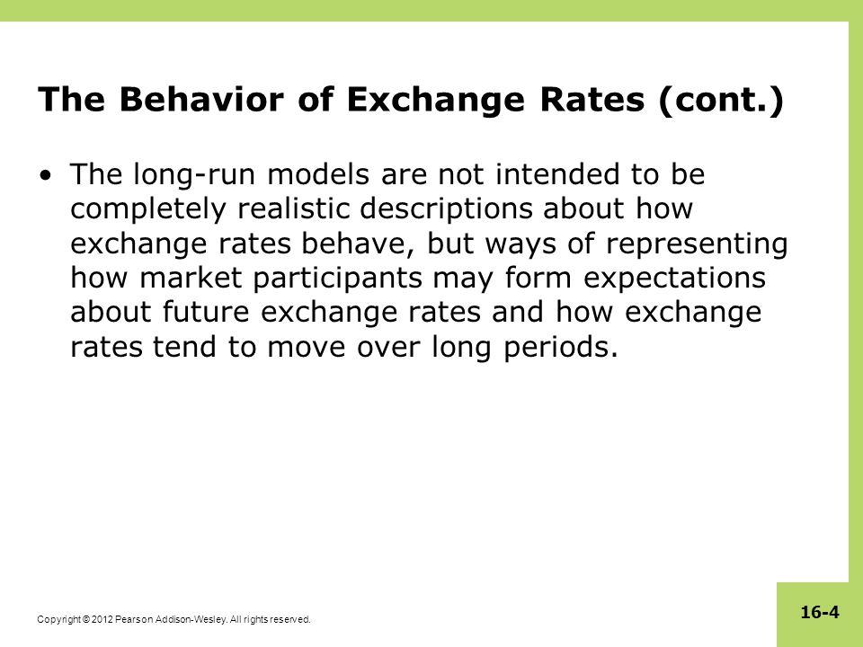 The Behavior of Exchange Rates (cont.)