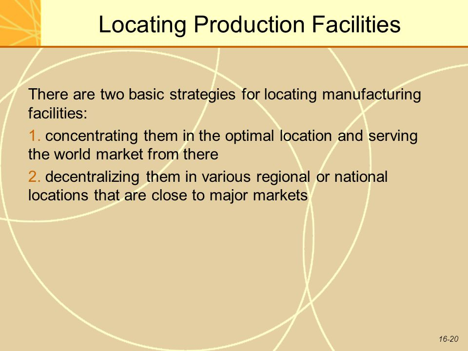 Locating Production Facilities