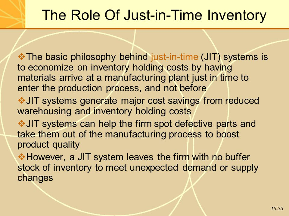 The Role Of Just-in-Time Inventory