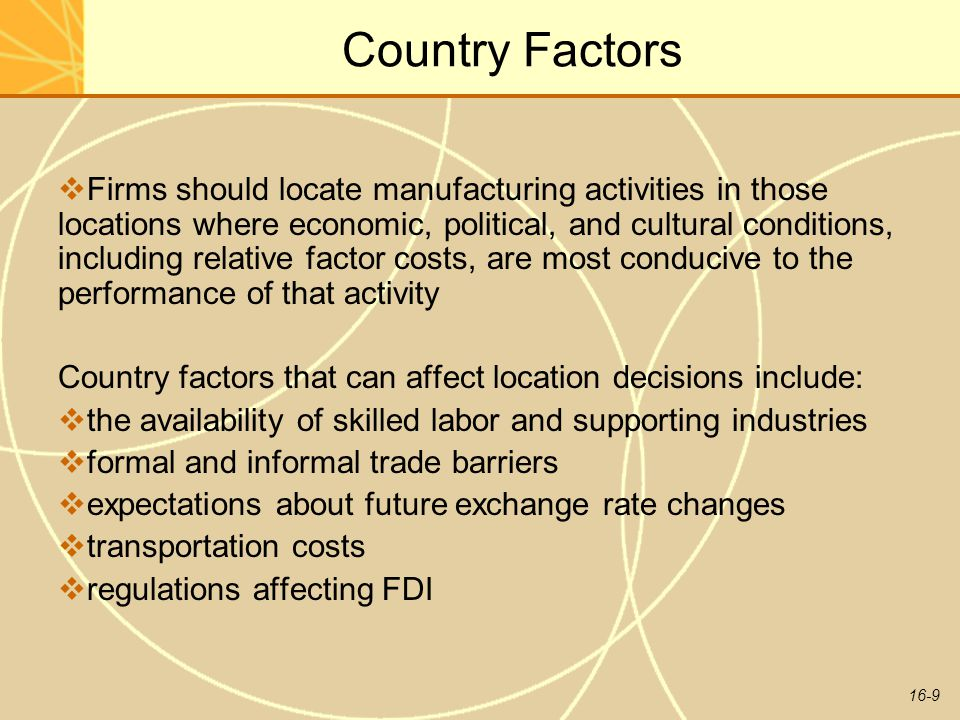 Country Factors