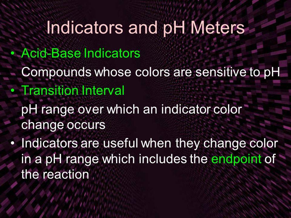 Indicators and pH Meters