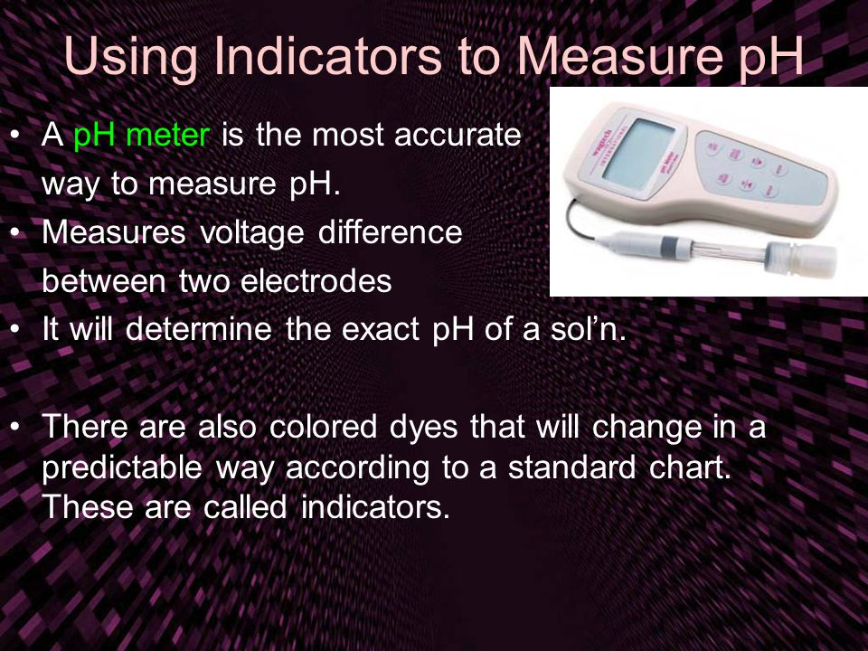 Using Indicators to Measure pH